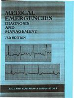 Medical emergencies. Diagnosis and management. 7th edition