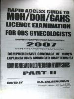 Rapid access guide to Moh/doh/bahs Licence examination for obs gynecologists. Part 2